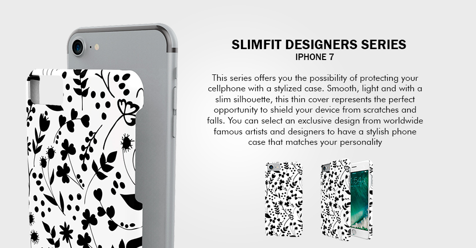 This series offers you the possibility of protecting your cellphone with a stylized case. Smooth, light and with a slim silhouette, this thin cover represents the perfect opportunity to shield your device from scratches and falls. You can select an exclusive design from worldwide famous artists and designers to have a stylish phone case that matches your personality