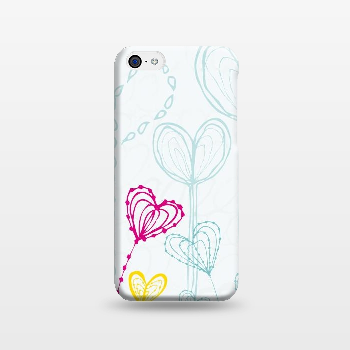 AC1238235, Phone Cases, iPhone 5C, SlimFit, MaJoBV, Love Garden  White, Designers,