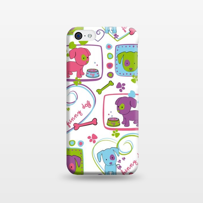 AC1238252, Phone Cases, iPhone 5C, SlimFit, Julia Grifol, My Loving Dogs, Designers,