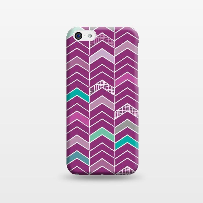 AC1238287, Phone Cases, iPhone 5C, SlimFit, Rosie Simons, Chevron Purple, Designers,