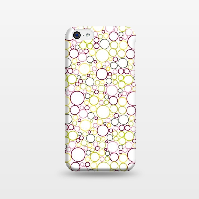 AC1238310, Phone Cases, iPhone 5C, SlimFit, Julie Hamilton, Circle Circles, Designers,