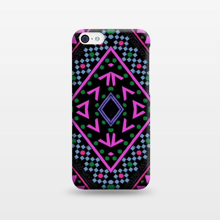 AC1238336, Phone Cases, iPhone 5C, SlimFit, Nika Martinez, Neon Pattern, Designers,