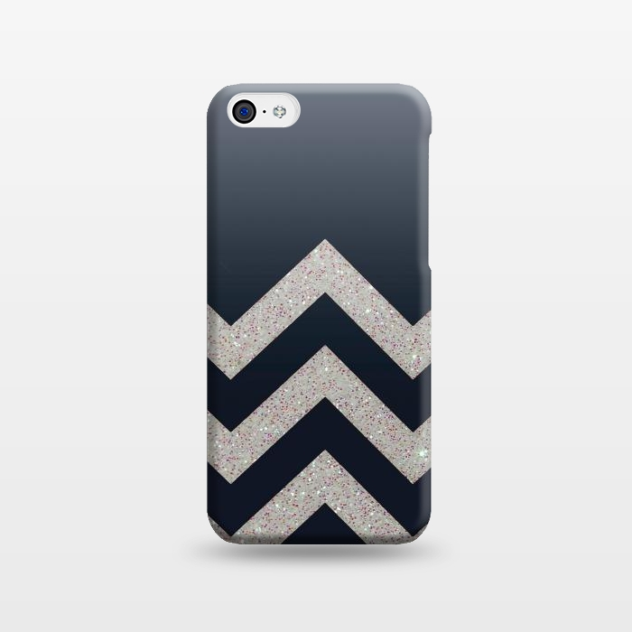 AC1238350, Phone Cases, iPhone 5C, SlimFit, Monika Strigel, Chevron Block Silver Grey, Designers,