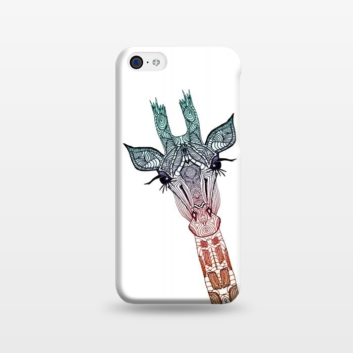 AC1238356, Phone Cases, iPhone 5C, SlimFit, Monika Strigel, Giraffe Teal, Designers,