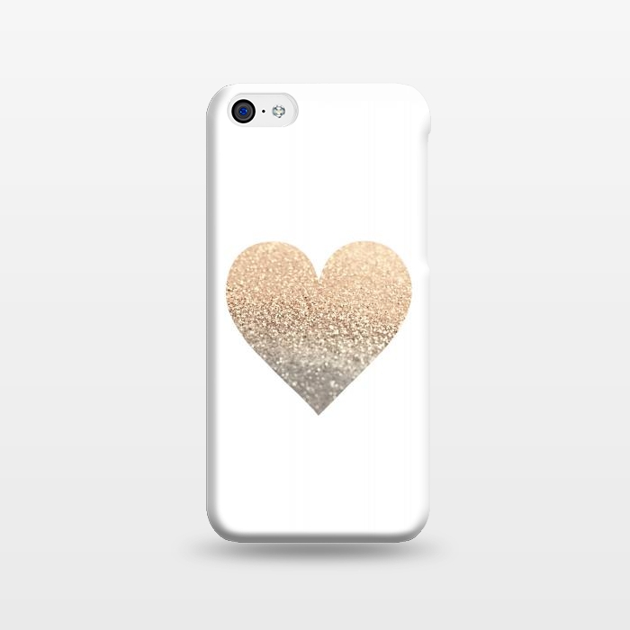 AC1238358, Phone Cases, iPhone 5C, SlimFit, Monika Strigel, Gatsby Gold Heart, Designers,