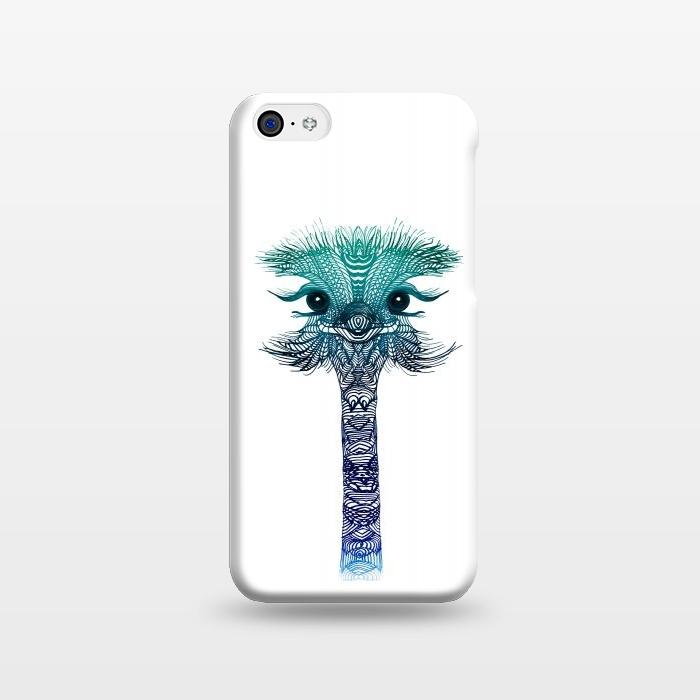 AC1238359, Phone Cases, iPhone 5C, SlimFit, Monika Strigel, Ostrich Strigel Blue Mint, Designers,