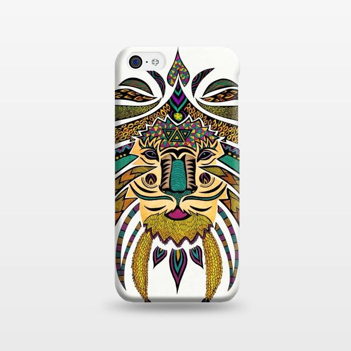 AC1238381, Phone Cases, iPhone 5C, SlimFit, Pom Graphic Design, Emperor Tribal Lion, Designers,