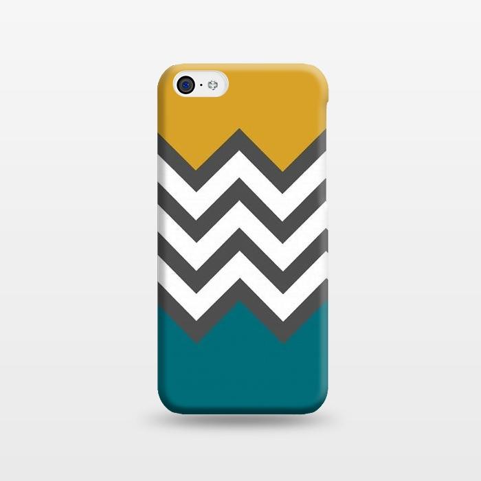 AC1238391, Phone Cases, iPhone 5C, SlimFit, Josie Steinfort , Color Blocked Chevron Mustard, Designers,
