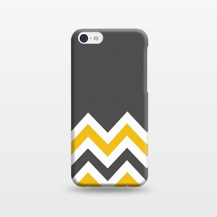 AC1238392, Phone Cases, iPhone 5C, SlimFit, Josie Steinfort , Color Blocked Chevron Mustard Gray, Designers,