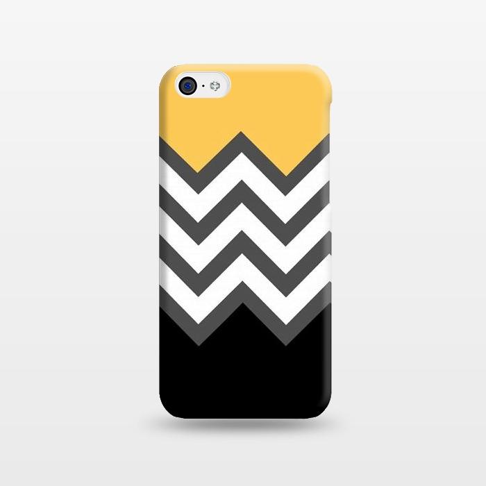AC1238396, Phone Cases, iPhone 5C, SlimFit, Josie Steinfort , Color Blocked Chevron Black Yellow, Designers,