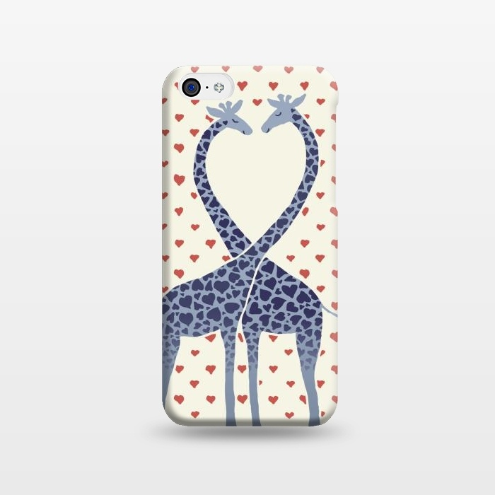 AC1238511, Phone Cases, iPhone 5C, SlimFit, Micklyn Le Feuvre, Giraffes in Love a Valentine's Day illustration, Designers,