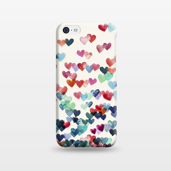 AC1238512, Phone Cases, iPhone 5C, SlimFit, Micklyn Le Feuvre, Heart Connections a watercolor painting, Designers,