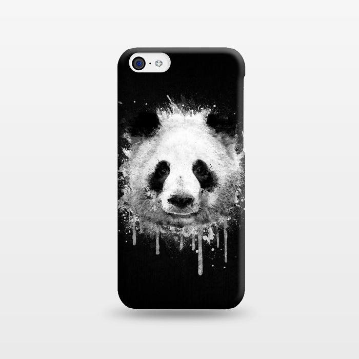 Panda Portrait in Black White