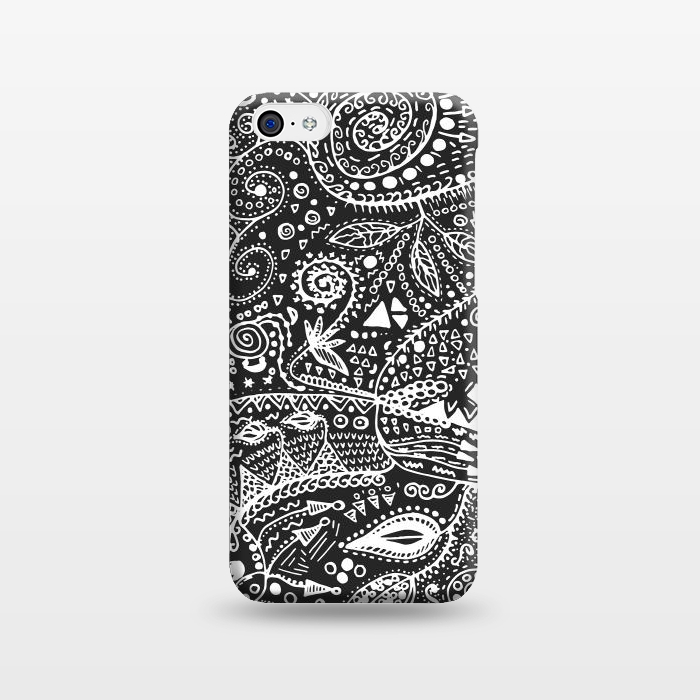 AC1238933, Phone Cases, iPhone 5C, SlimFit, Eleaxart, B&W Hand made, Designers,