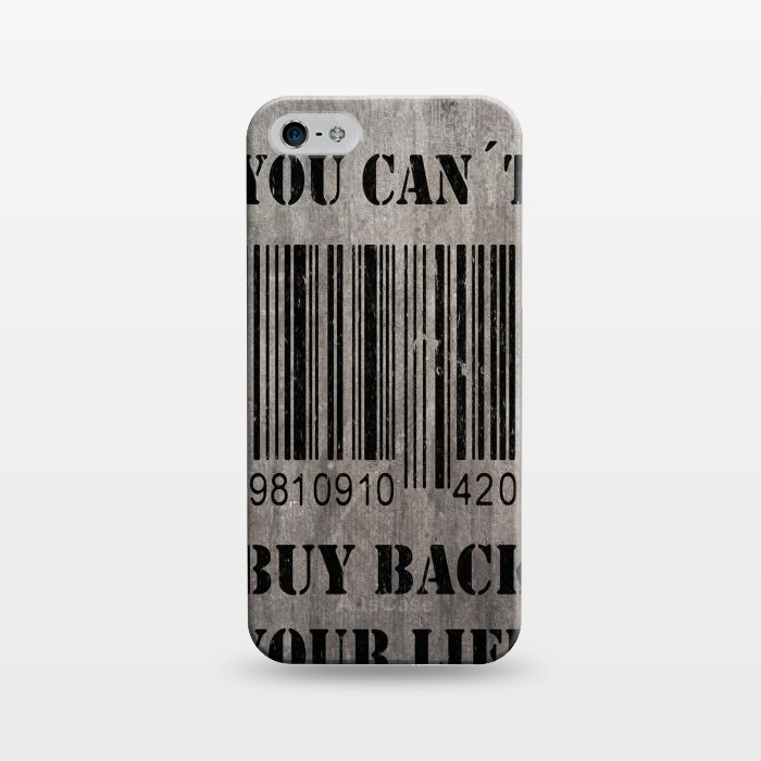AC1243184, Phone Cases, iPhone 5/5E/5s, SlimFit, Nicklas Gustafsson, You can´t buy back your life, Designers,
