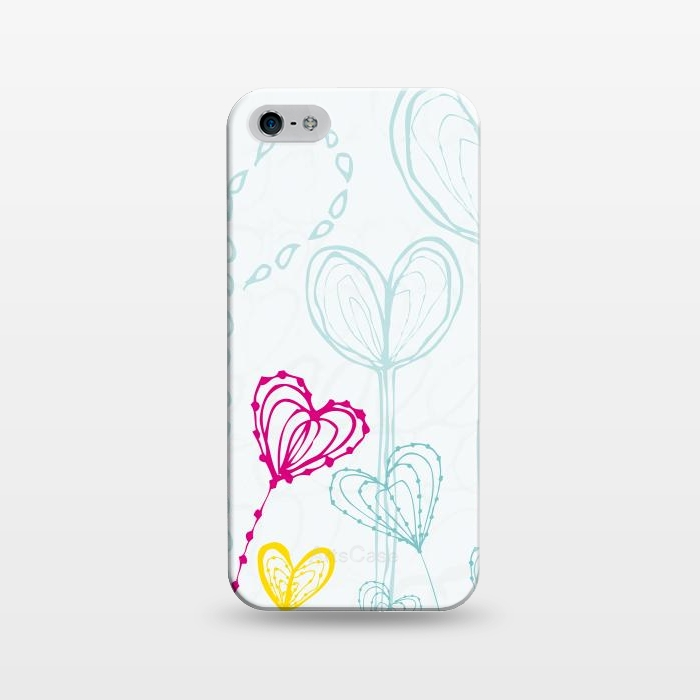 AC1243235, Phone Cases, iPhone 5/5E/5s, SlimFit, MaJoBV, Love Garden  White, Designers,