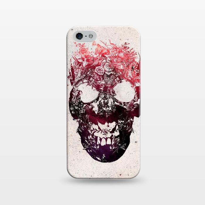 AC1243270, Phone Cases, iPhone 5/5E/5s, SlimFit, Ali Gulec, Floral Skull, Designers,