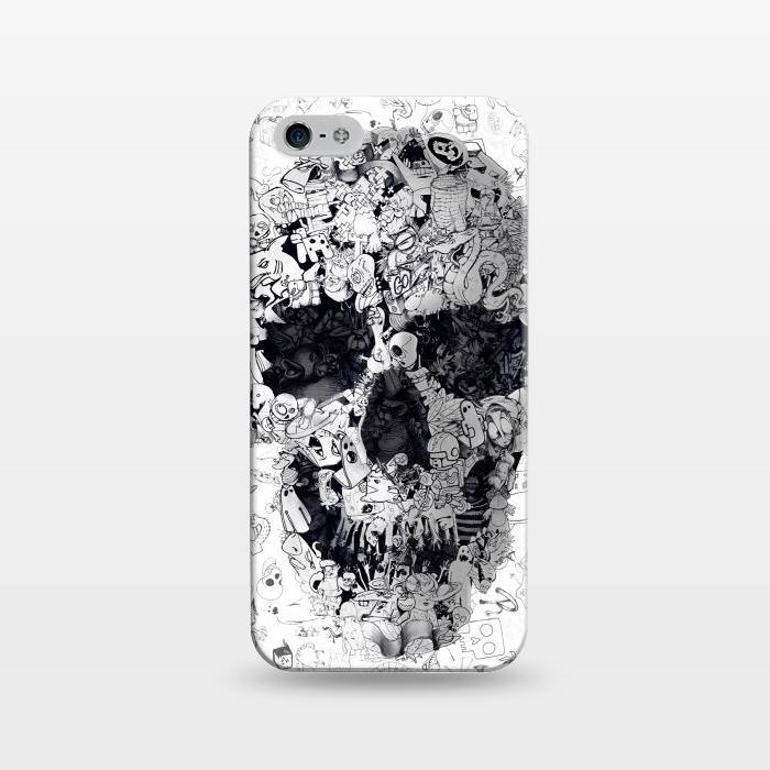 AC1243279, Phone Cases, iPhone 5/5E/5s, SlimFit, Ali Gulec, Doodle Bw, Designers,