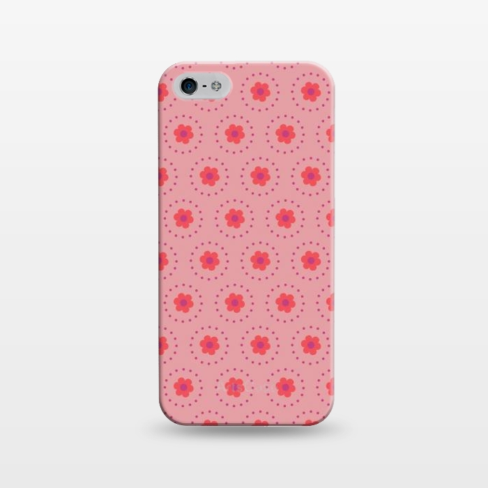 AC1243283, Phone Cases, iPhone 5/5E/5s, SlimFit, Rosie Simons, Pink Circular Floral, Designers,