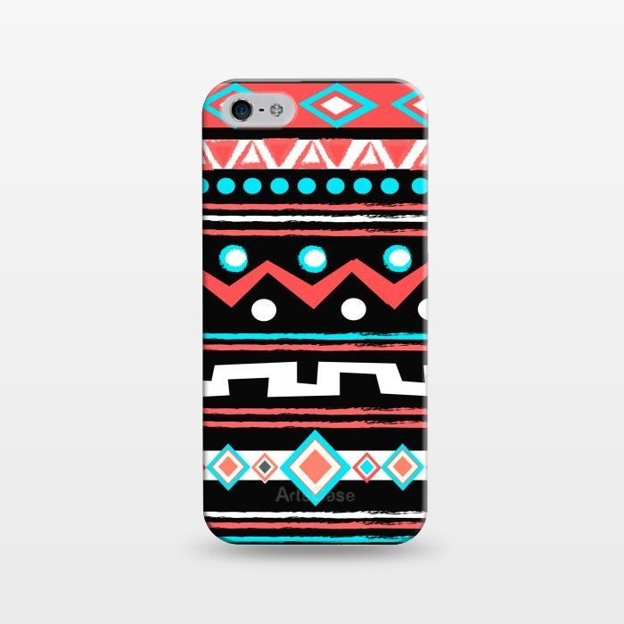 AC1243334, Phone Cases, iPhone 5/5E/5s, SlimFit, Nika Martinez, Black Tipi, Designers,