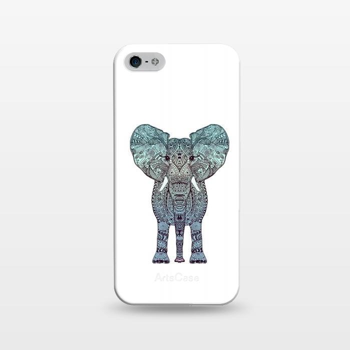 AC1243355, Phone Cases, iPhone 5/5E/5s, SlimFit, Monika Strigel, Elephant Blue, Designers,