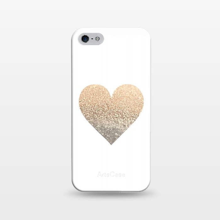 AC1243358, Phone Cases, iPhone 5/5E/5s, SlimFit, Monika Strigel, Gatsby Gold Heart, Designers,