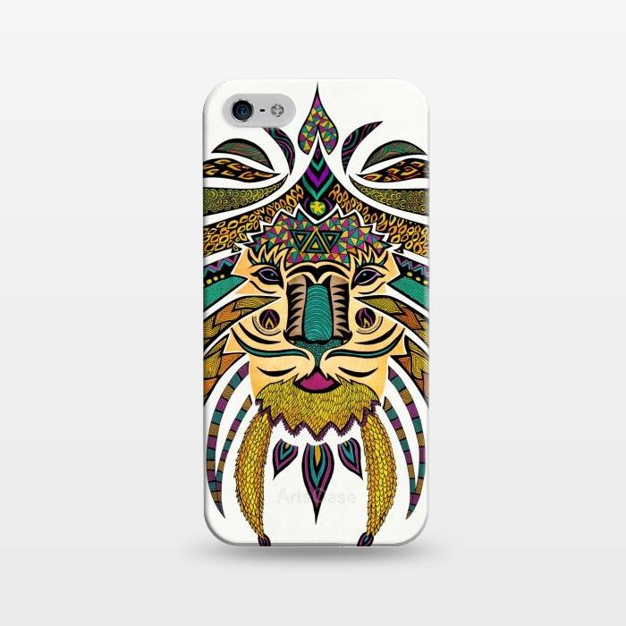 AC1243381, Phone Cases, iPhone 5/5E/5s, SlimFit, Pom Graphic Design, Emperor Tribal Lion, Designers,