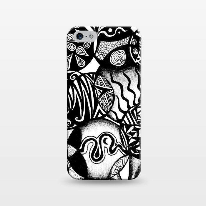 AC1243383, Phone Cases, iPhone 5/5E/5s, SlimFit, Pom Graphic Design, Circles and Life, Designers,