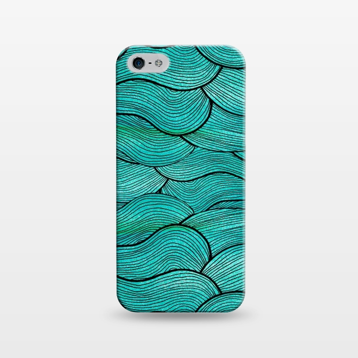 AC1243385, Phone Cases, iPhone 5/5E/5s, SlimFit, Pom Graphic Design, Sea Waves Pattern, Designers,