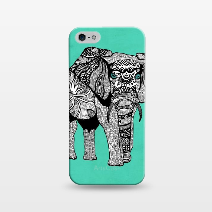 AC1243387, Phone Cases, iPhone 5/5E/5s, SlimFit, Pom Graphic Design, Elephant of Namibia, Designers,