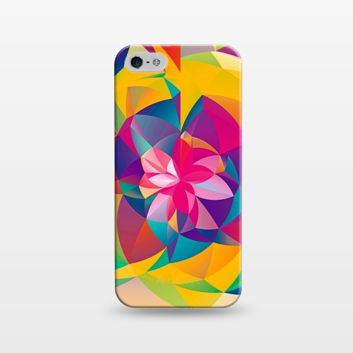 AC1243448, Phone Cases, iPhone 5/5E/5s, SlimFit, Eleaxart, Acid Blossom, Designers,