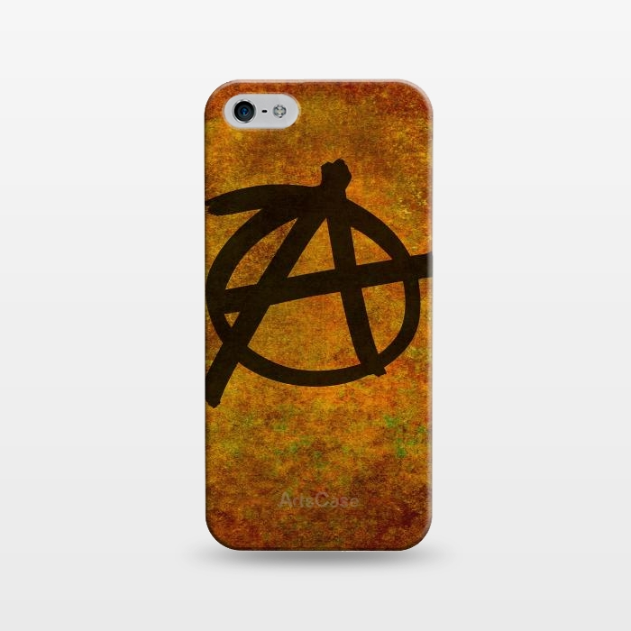 AC1243481, Phone Cases, iPhone 5/5E/5s, SlimFit, Bruce Stanfield, Anarchy Red, Designers,