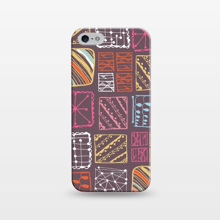 AC1243501, Phone Cases, iPhone 5/5E/5s, SlimFit, Rachael Taylor, Doodle Squares, Designers,