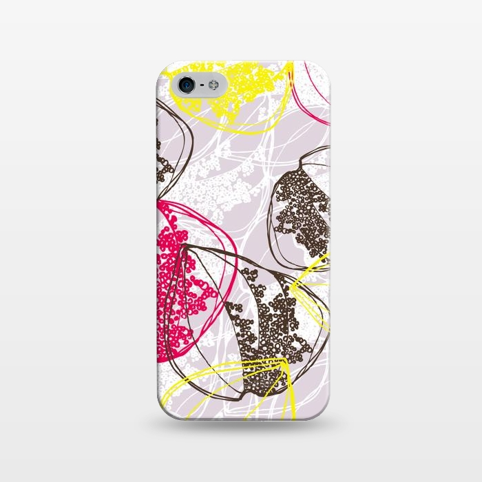 AC1243506, Phone Cases, iPhone 5/5E/5s, SlimFit, Rachael Taylor, Organic Retro Leaves, Designers,