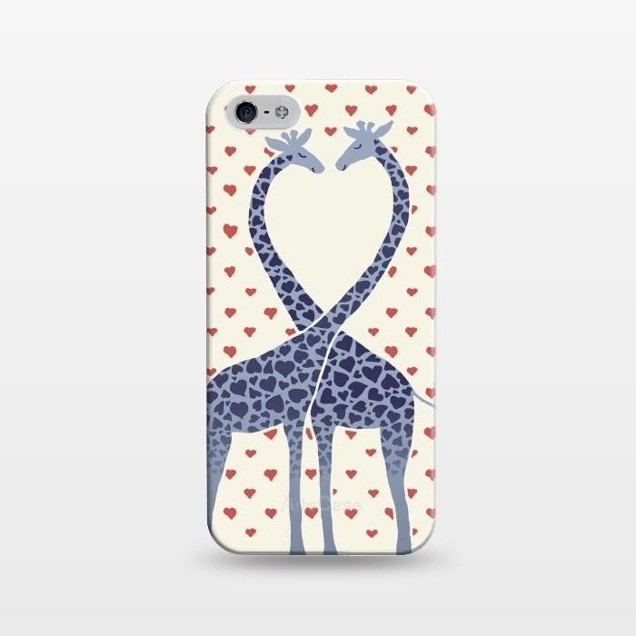 Giraffes in Love a Valentine's Day illustration