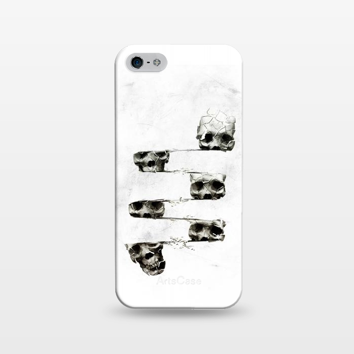 AC1243561, Phone Cases, iPhone 5/5E/5s, SlimFit, Ali Gulec, Skull 3, Designers,