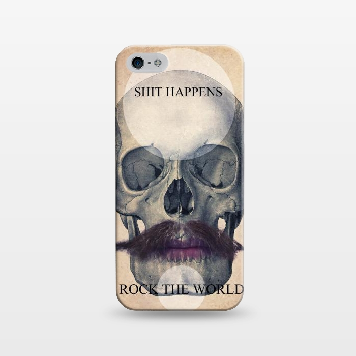 AC1243636, Phone Cases, iPhone 5/5E/5s, SlimFit, Diego Tirigall, SKULL ROCK THE WORLD OK, Designers,