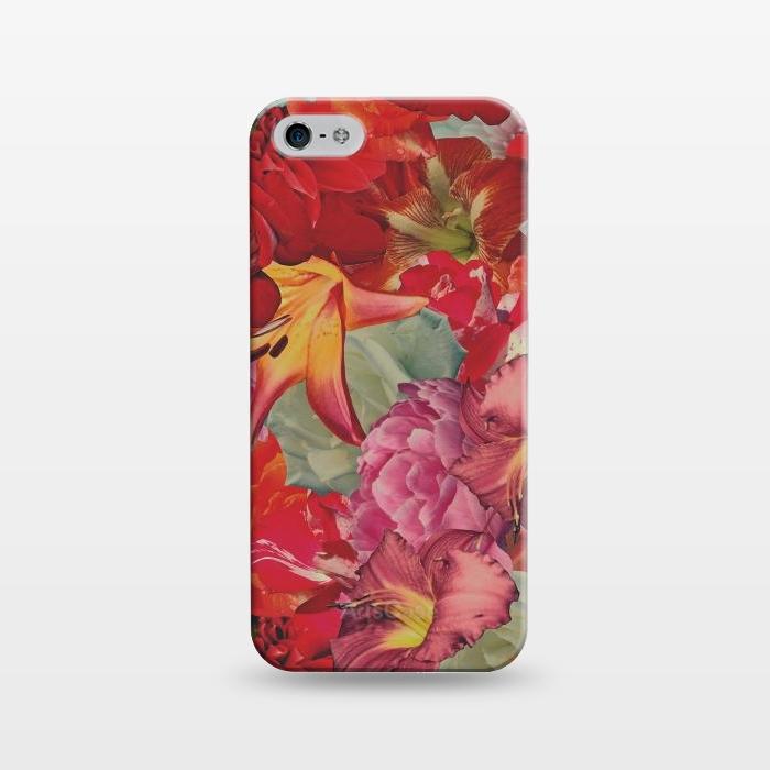 AC1243943, Phone Cases, iPhone 5/5E/5s, SlimFit, Eleaxart, Vintage Flowers, Designers,