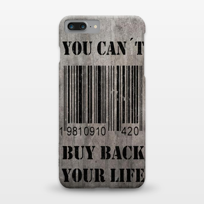 AC1248184, Phone Cases, iPhone 7 plus, SlimFit, Nicklas Gustafsson, You can´t buy back your life, Designers,