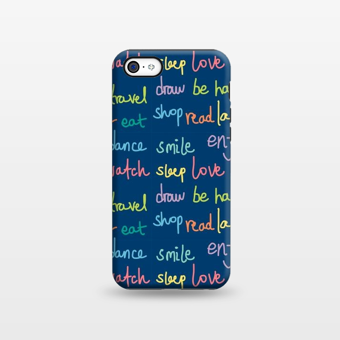 AC1338232, Phone Cases, iPhone 5C, StrongFit, MaJoBV, Happy Typo, Designers,