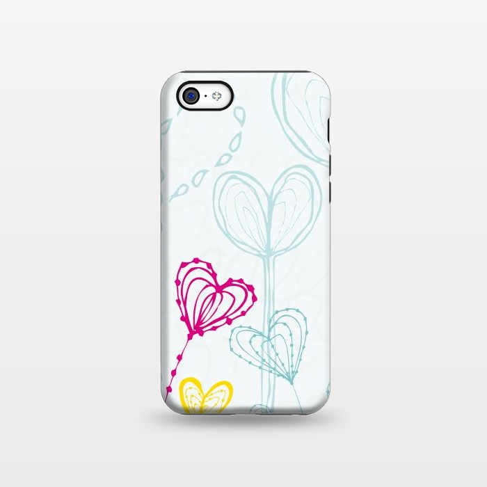 AC1338235, Phone Cases, iPhone 5C, StrongFit, MaJoBV, Love Garden  White, Designers,