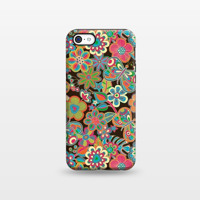 AC1338253, Phone Cases, iPhone 5C, StrongFit, Julia Grifol, My Butterflies and Flowers, Designers,