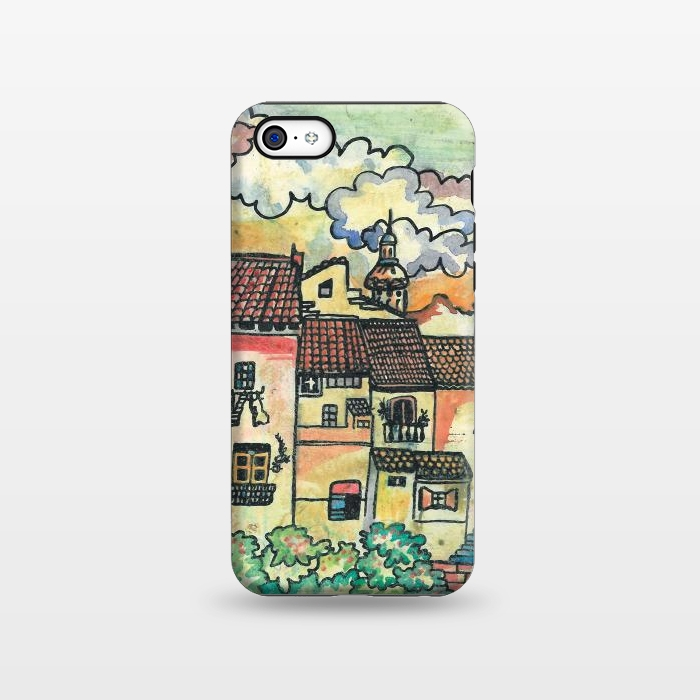 AC1338257, Phone Cases, iPhone 5C, StrongFit, Julia Grifol, A Spanish Village, Designers,