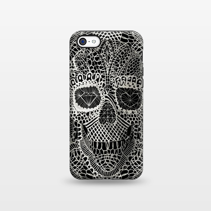 AC1338277, Phone Cases, iPhone 5C, StrongFit, Ali Gulec, Lace Skull, Designers,