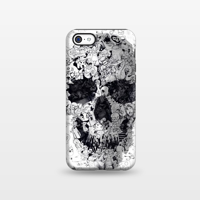 AC1338279, Phone Cases, iPhone 5C, StrongFit, Ali Gulec, Doodle Bw, Designers,