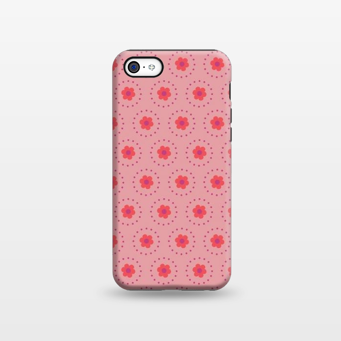 AC1338283, Phone Cases, iPhone 5C, StrongFit, Rosie Simons, Pink Circular Floral, Designers,