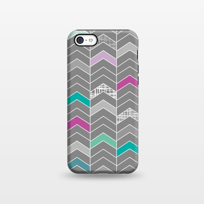 AC1338286, Phone Cases, iPhone 5C, StrongFit, Rosie Simons, Chevron Grey, Designers,