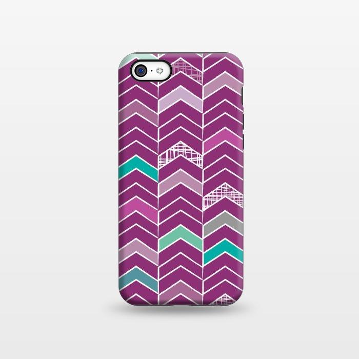 AC1338287, Phone Cases, iPhone 5C, StrongFit, Rosie Simons, Chevron Purple, Designers,