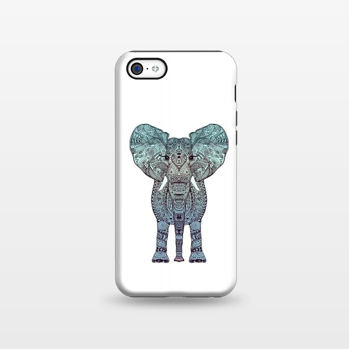 AC1338355, Phone Cases, iPhone 5C, StrongFit, Monika Strigel, Elephant Blue, Designers,