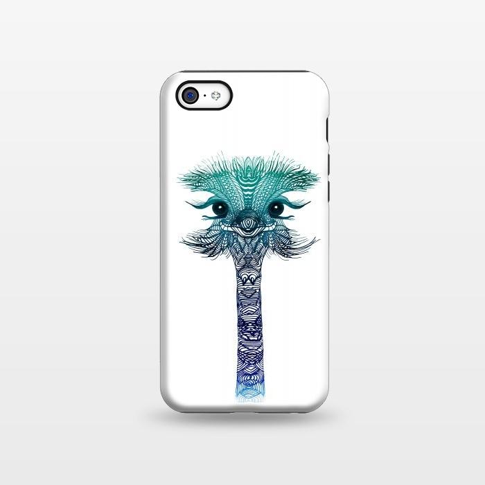 AC1338359, Phone Cases, iPhone 5C, StrongFit, Monika Strigel, Ostrich Strigel Blue Mint, Designers,